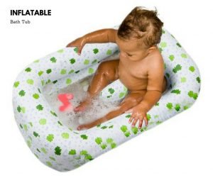 how to inflate baby bath tub